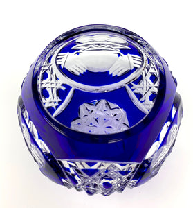 Blue Claddagh Rose Bowl