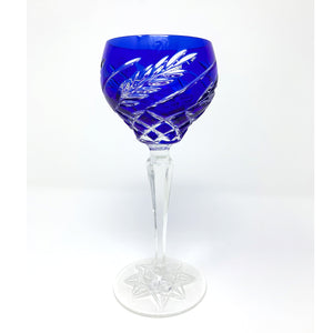 Blue Wheat Wine Glass