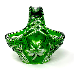 Emerald Green Small Shamrock Basket