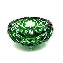 Load image into Gallery viewer, Emerald Green Shamrock 3 Leg Bowl - One of a Kind