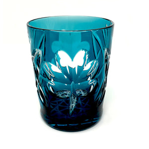Teal Shamrock Whiskey Glass