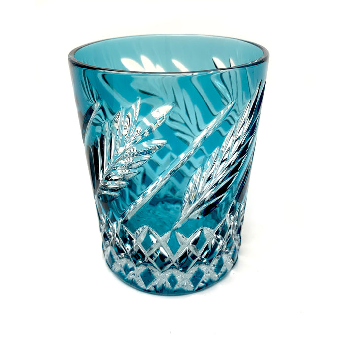Teal Wheat Whiskey Glass