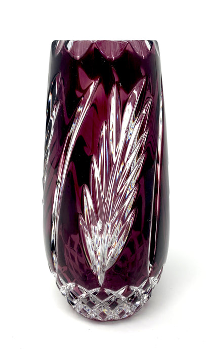 Small Amethyst Wheat Vase
