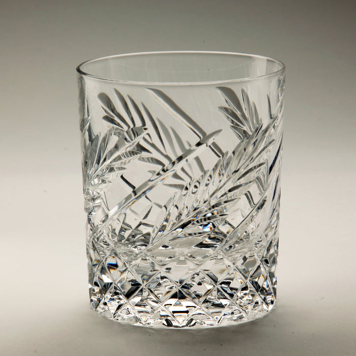 Wheat Old Fashioned Crystal Whiskey Tumbler