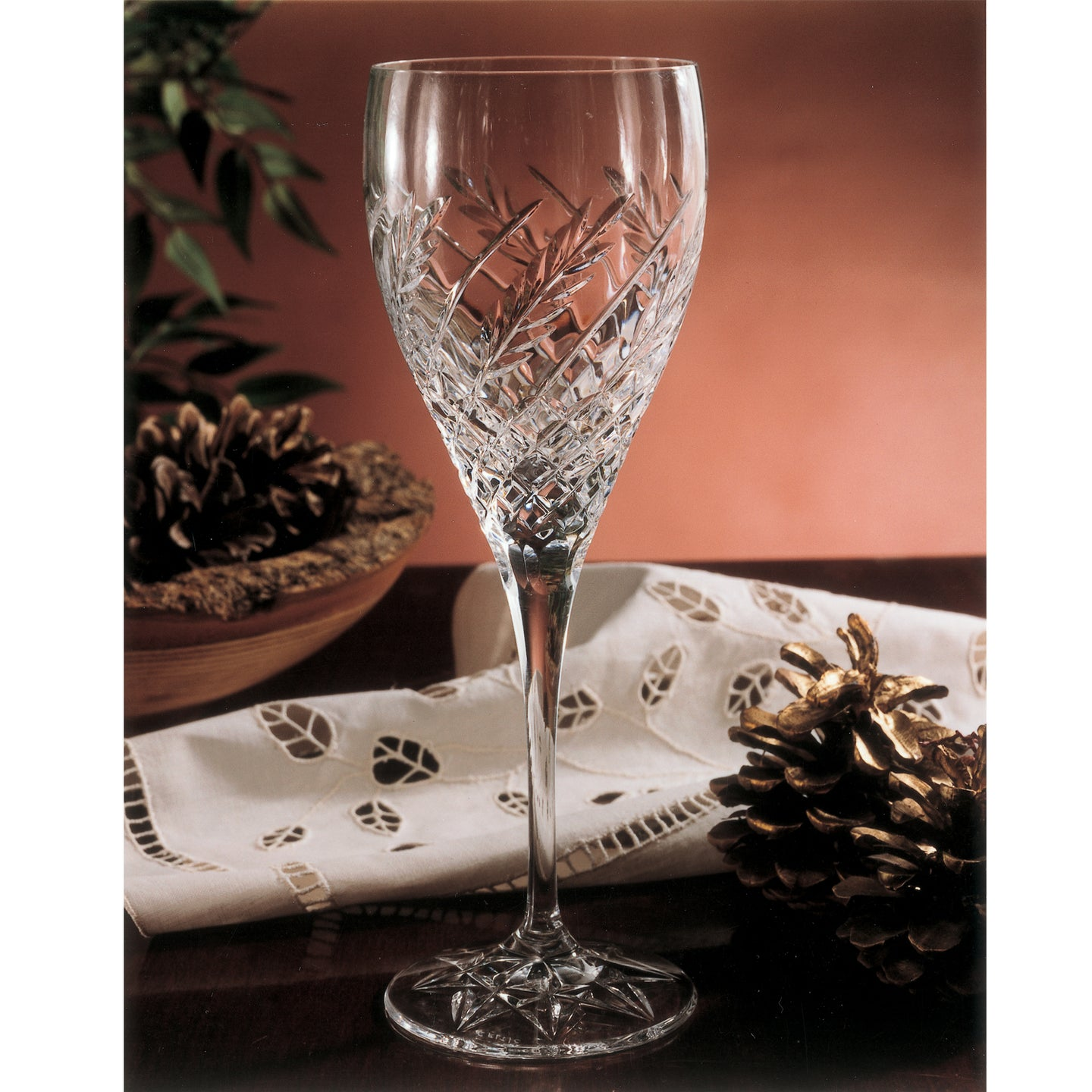 Wheat Crystal Water Goblet