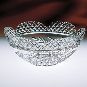 Wheat Scalloped Crystal Fruit Bowl