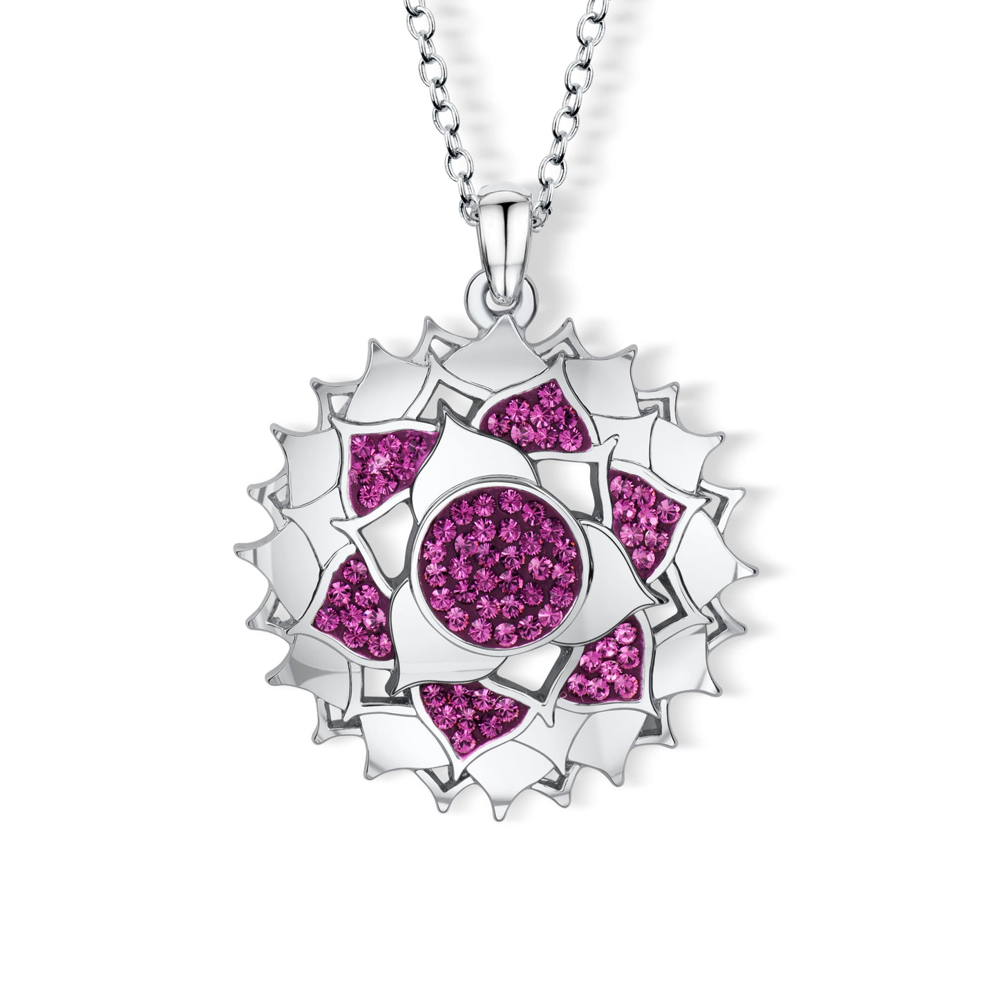 Irish Rose Pendant - Amethyst