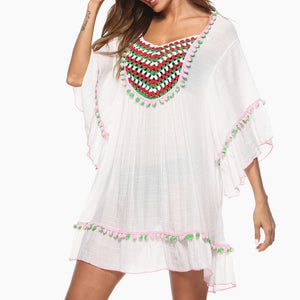 Sexy White Sheer Crochet Swimsuit Cover Up