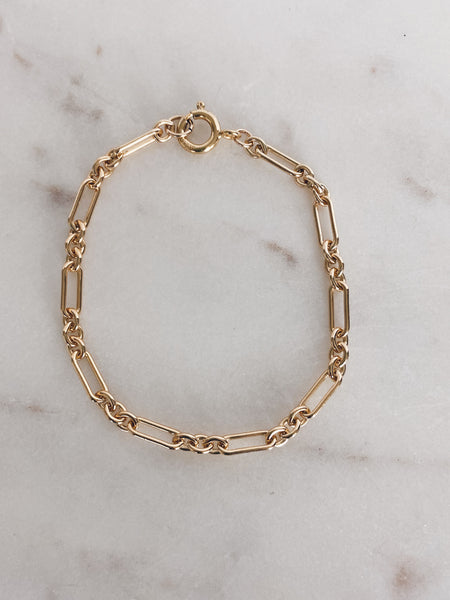 14k Gold Filled Max Long & Short Link Chain Bracelet