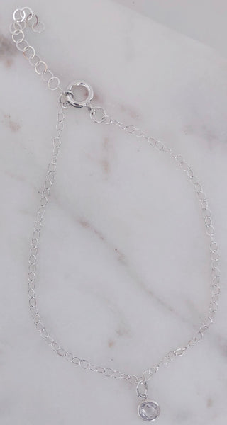 "Sterling Silver ""Self Made"" Anklet"