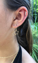 Star and Moon Asymmetrical Huggie Earrings