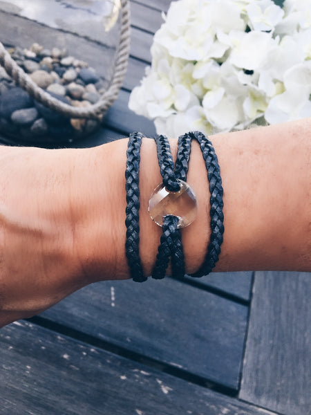 Swarovski Crystal Leather Wrap Bracelet