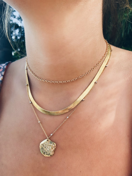14k Gold Filled Diamond Chain Choker