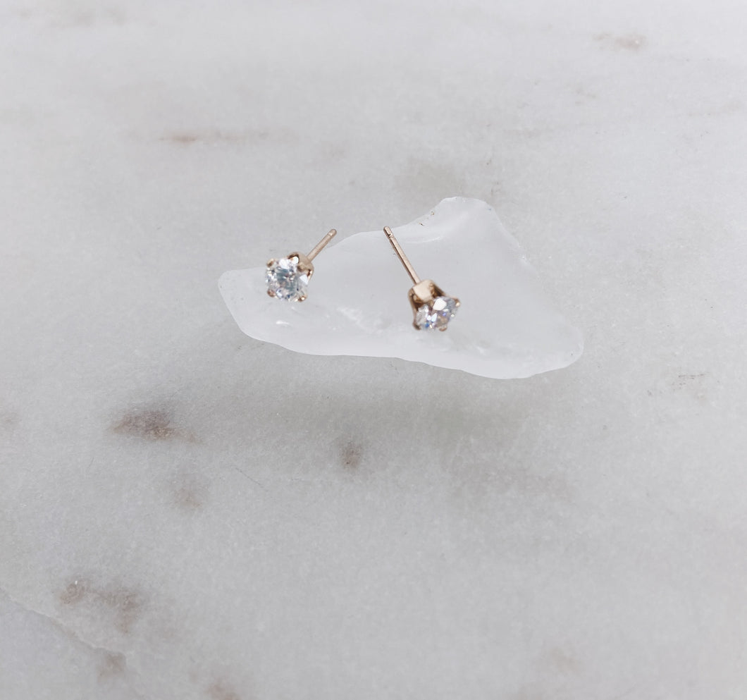 14k Gold Filled CZ Stud Earrings