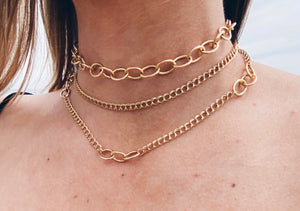 14k Gold Filled Mixed Chain Necklace