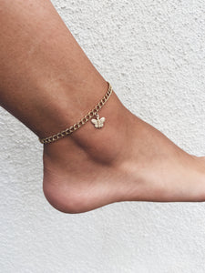 14k Gold Filled Butterfly Anklet