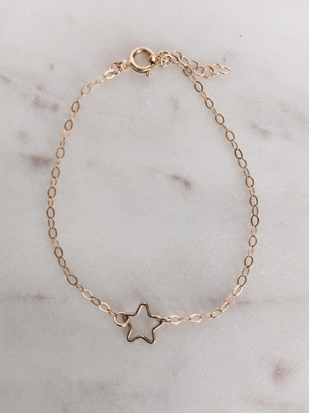 14k Gold Filled Star Bracelet