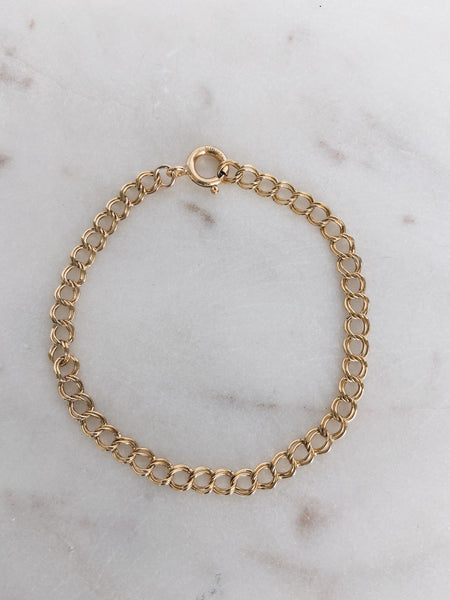 14k Gold Filled Double Curb Chain Bracelet