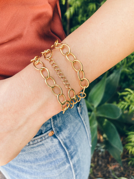 14K Gold Filled Chunky Chain Bracelet