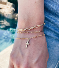 14k Gold Filled Cross Bracelet