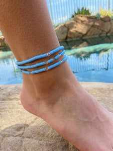 Swarovski and Vinyl Disc Anklet