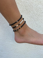 Hammered Beads and Vinyl Disc Anklet