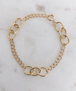 14k Gold Filled Mixed Chain Bracelet