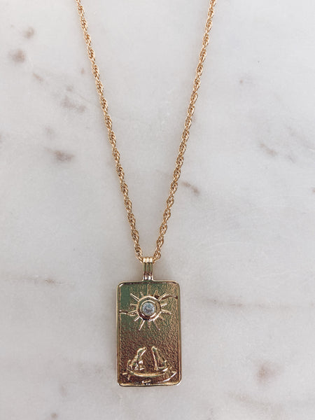 The Moon Tarot Pendant Necklace