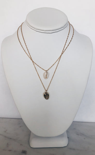 Layered Cowrie Shell Necklace