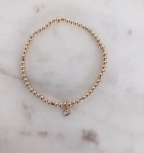 Mini CZ Beaded Bracelet