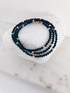 Sapphire w/14k gold filled beads