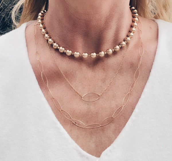 Layered Marquis Necklace