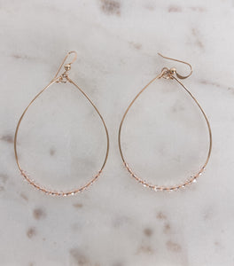 14k Gold Filled Swarovski Crystal Hoops