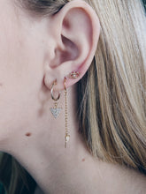 Gold Filled Ear Threaders with Mini CZ Tusk