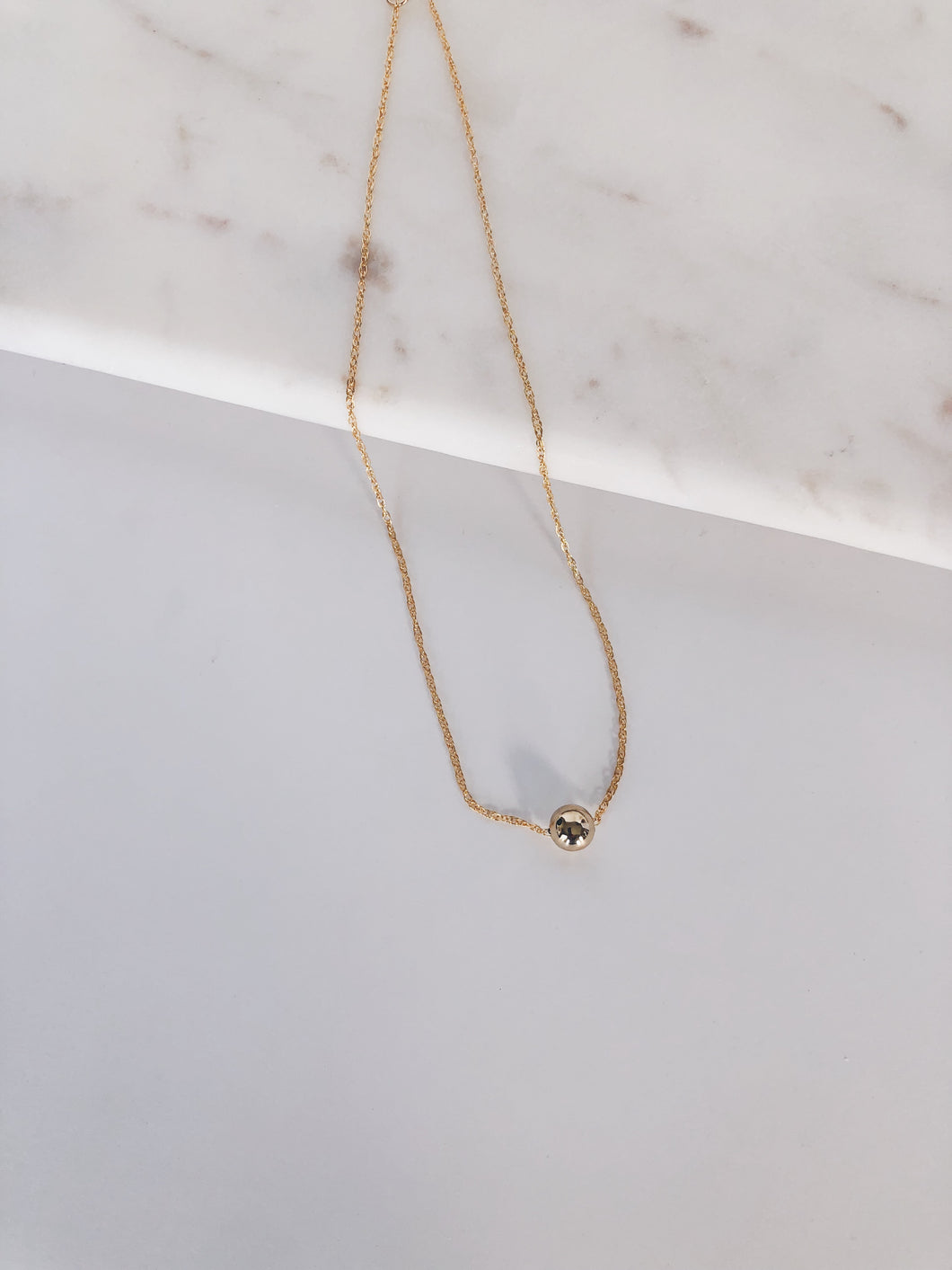 14k Gold Filled Floating Sphere Necklace
