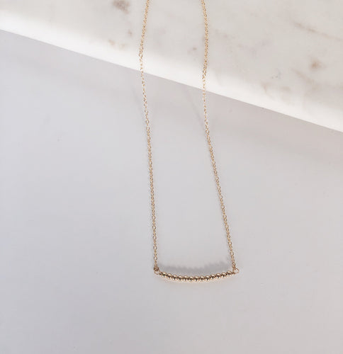 14k Gold Filled Mini Sphere Bar Necklace