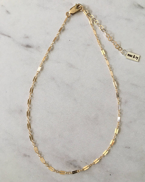 14k Gold Fill Dapped Chain