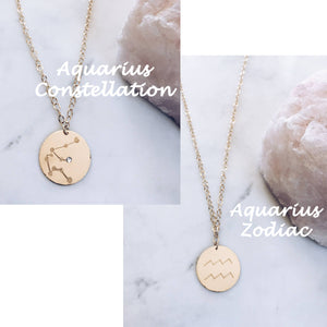 Hand Etched Constellation Necklace