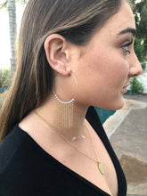 Mixed Metal Fringe Hoops