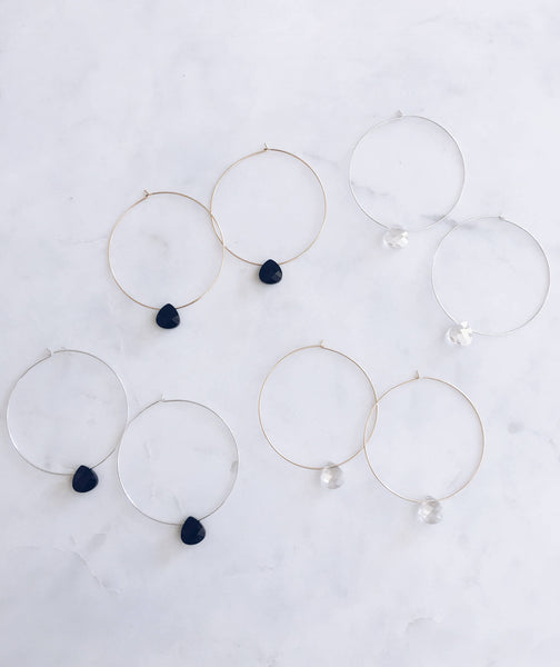 Swarovski Crystal Teardrop Hoops