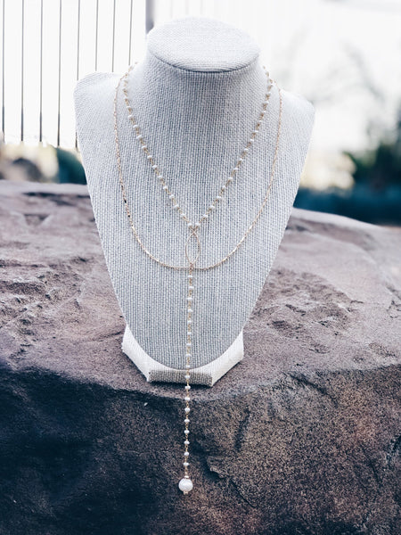 14k Gold Fill and Pearl Draped Necklace