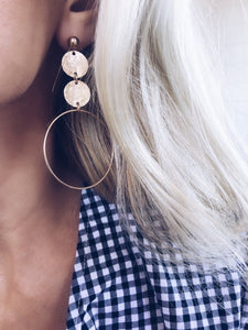 Duo Hammered Hoops...Featured in Vogue