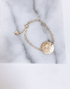 Hammered Coin Bracelet