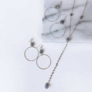 14k Gold Filled Gemstone Hoops