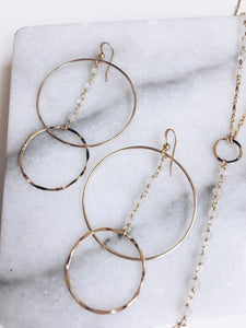 Gemstone Drop Hoops