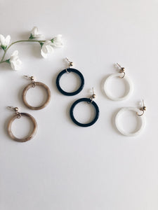 Resin Marbled Hoops