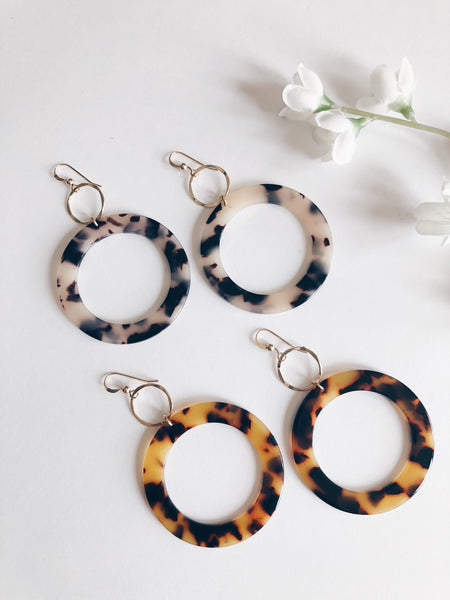 14k Gold Filled Tortoise Hoops...Featured in Vogue