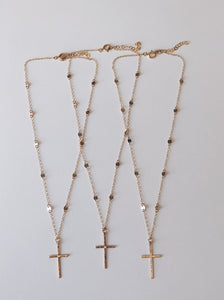 The Blessed Collection...Hammered Cross Hoops