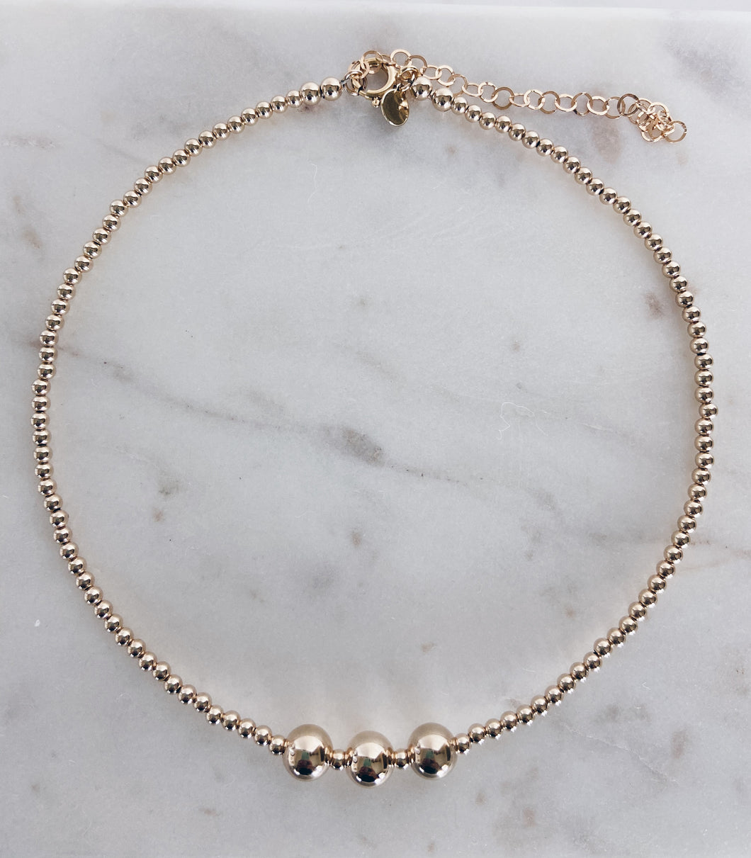 Floating Bubbles Collar Necklace