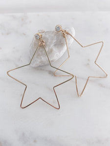 Gold Filled Star Hoops